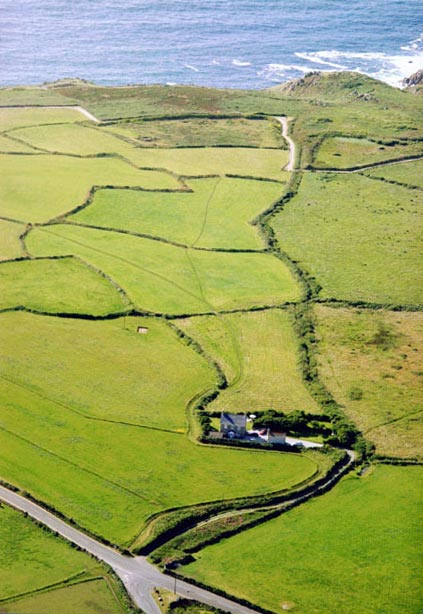 Aerial view of Treeve Moor Cottage