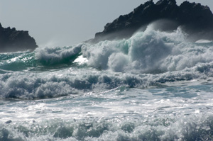 Rough sea at Cape Cornwall